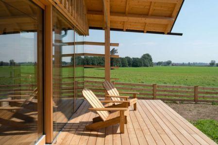 terrasse façade - Maison bois par BIRO GASPERIC - Velesovo, Slovenia
