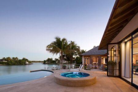 terrasse & jaccuzi - villa par Krutz Homes - Floride, USA