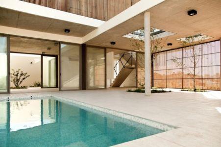 terrasse intérieure - Casa Pedro par VDV ARQ - Buenos Aires, Argentine