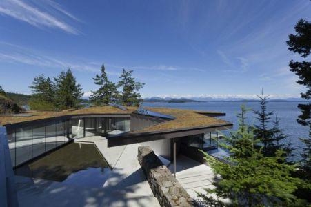 terrasse intérieure - Tula House par Patkau Architects - Quadra Island, Canada