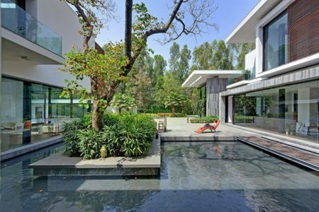 terrasse & jardin - Three Trees House par DADA & Partners - New Delhi, Inde