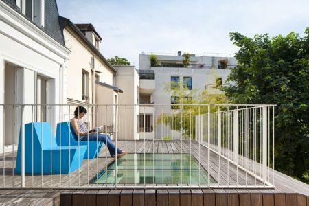 terrasse - maison - Atelier Zundel Cristea- Photo Sergio Grazia - France