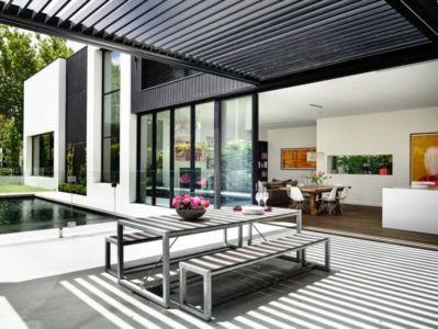 terrasse piscine - Kew House par Amber Hope Design - Melbourne, Australie