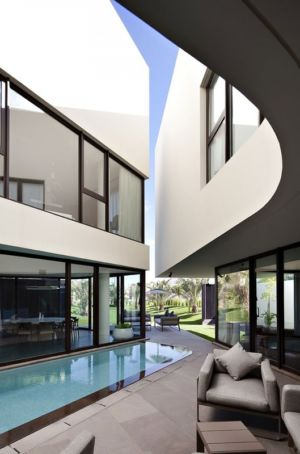 terrasse piscine  - Mop House par AGI Architects - Al Nuzha, Koweït