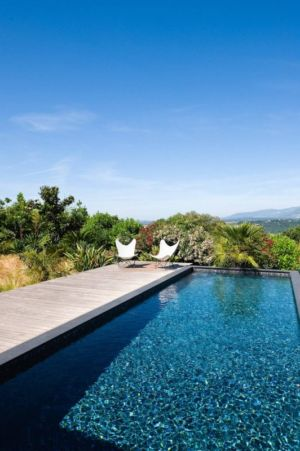 terrasse piscine - Villa Nalu par Pascal Goujon - Alpes-Maritimes, France