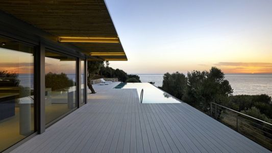 terrasse, piscine et panorama - Notre Ntam' Lesvos Residences par Z-level à Agios - Fokas, Grèce