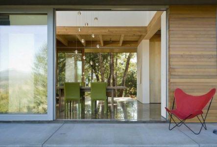 terrasse séjour - HudsonPanos Residence par Swatt & Miers Architects - Healdsburg, Usa