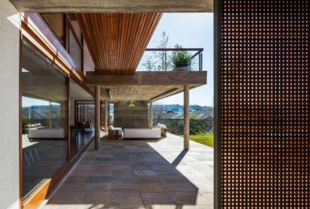 terrasse salon - Ft house par Reinach Mendon Arquitetos - Bragança Paulista, Brésil