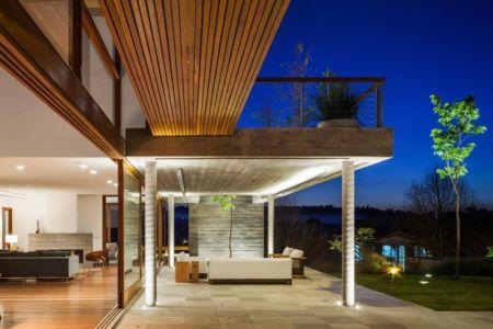 terrasse salon de nuit - Ft house par Reinach Mendon Arquitetos - Bragança Paulista, Brésil