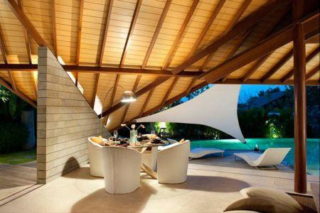 terrasse salon design - Villas-Spa par Layar Designer - Bali, Indonesie
