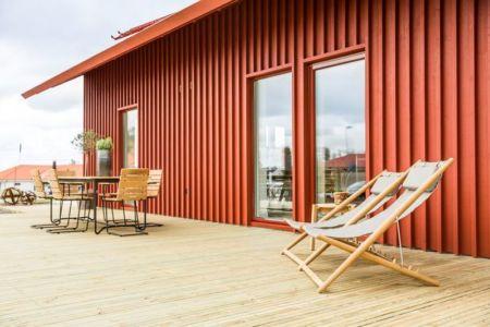 terrasse salon & entrée baie vitrée - villa-vallmo par Thomas Sandell - Skaraborg, Suède