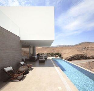 terrasse salon design & piscine - House-Poseidon par Domenack arquitectos - Pucusama, Pérou