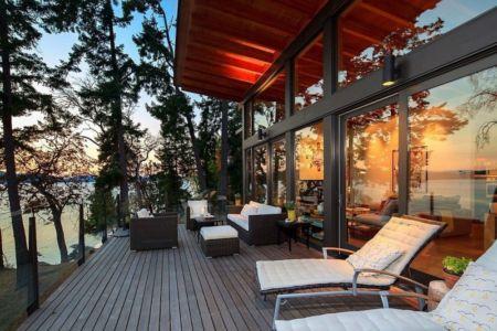 terrasse salon design - saturna-island - Colombie Britannique, Canada