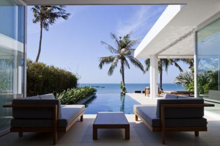 terrasse salon design - sofka par MM++ Architects - Phan Thiet, Vietnam