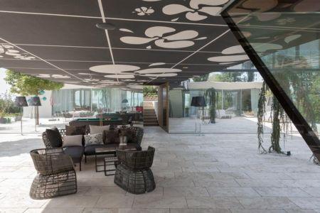 terrasse salon design - villa-am-bodensee par jung - lac constance, Suisse