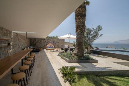 terrasse salon design & vue sur la mer - villa contemporaine par Adrián Noboa Arquitecto, Malecon Las Colinas, Pérou