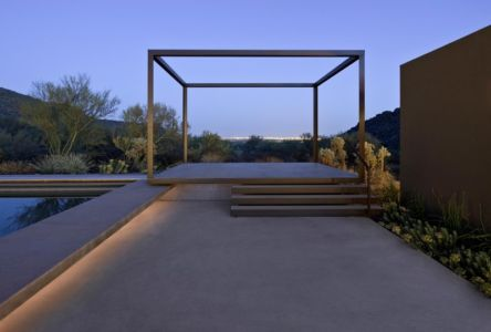 terrasse surélevée - Levin Residence par Ibarra Rosano Design Architects - Marana, Usa