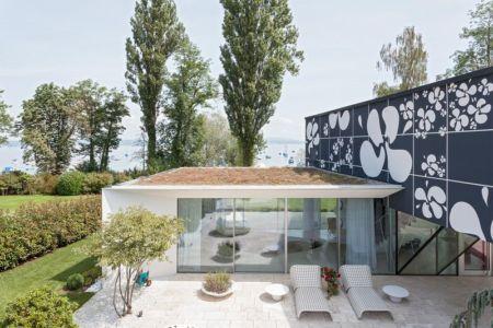 terrasse toit végétalisé - villa-am-bodensee par jung - lac constance, Suisse