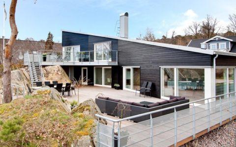 terrasse - villa Skipas par Tengbom - Halmstad, Suède