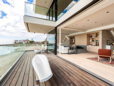 terrasse - villa contemporaine à Malibu, Usa