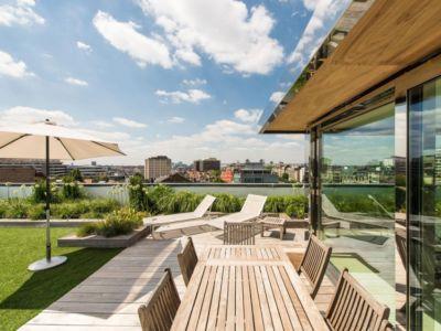 terrasse - vue à 360 degrés - Bruxelles, Belgique
