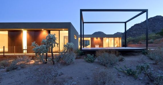 terrasses - Levin Residence par Ibarra Rosano Design Architects - Marana, Usa