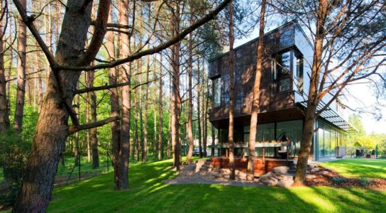 terrasses - Modern Family House par 4PLIUS Architects - Vilnius, Lituanie