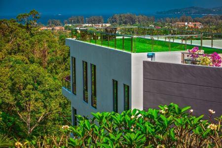 toit terrasse - villa contemporaine - Phuket, Thaïlande