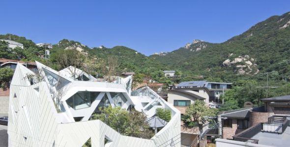 toiture - HWA HUN par IROJE KHM Architects - Pyeongchang-dong, Corée du Sud