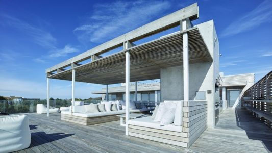 toiture terrasse - Ocean Deck House par Stelle Lomont Rouhani Architects - Bridgehampton, USA