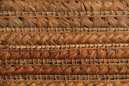 toiture tressée en feuilles de palmier - House in Playa del Carmen par YUPANA Arquitectos - Chincha Alta, Pérou