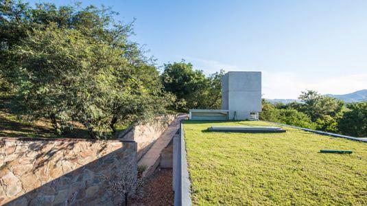 toiture végétalisée - House in Q2 par Santiago Viale - Mendiolaza, Argentine
