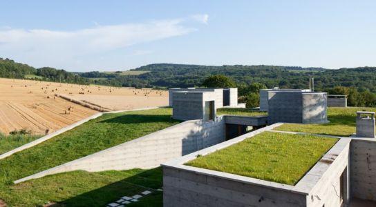 toiture végétalisée - Maison Terrier par Bernard Quirot architecte + associés - Haute-Saône, France