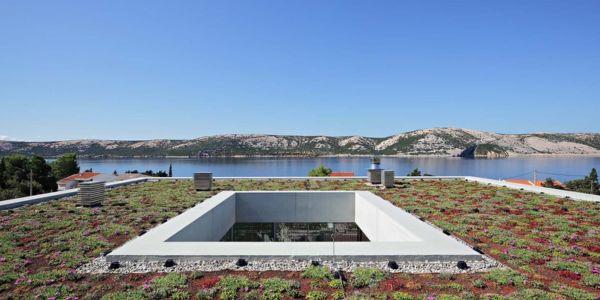 toiture végétalisée - Olive House par LOG-URBIS - Pag, Croatie
