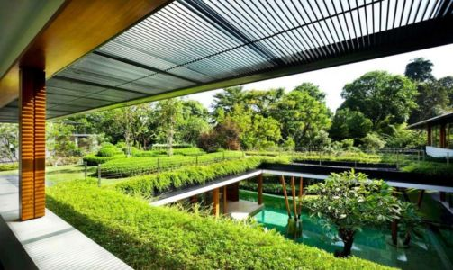 toiture végétalisée - Water Lily House par Guz Architects - Singapour