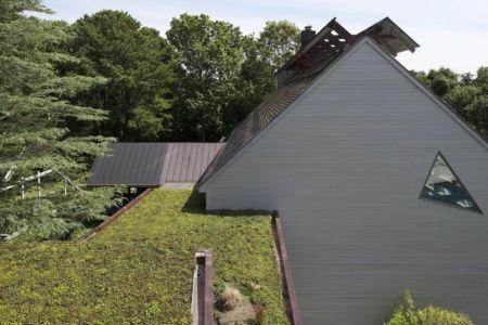 toiture végétalisée et toits - Sayres House and Hanging Gardens par Maziar Behrooz Architecture - East Hampton, Usa