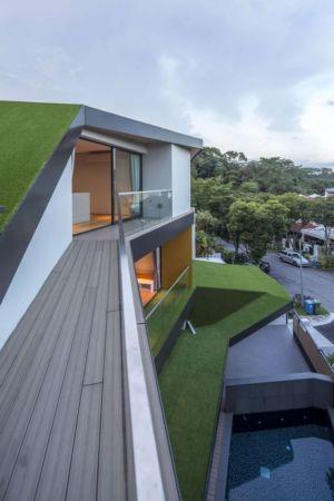 toiture verte - Trevose-House par Ad-Lab - Singapour