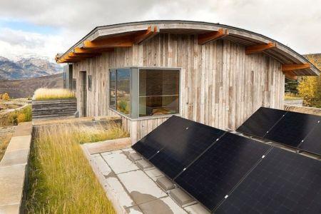 toitutre végétalisée, cintrage, panneaux solaires - Contemporary Western par Hoyt Architects & CTA Group - Usa