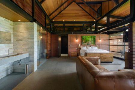 vaste chambre & salle de bains - Kapalua-Home par Olson Kundig Kaprzycki Designs - Hawaï, USA