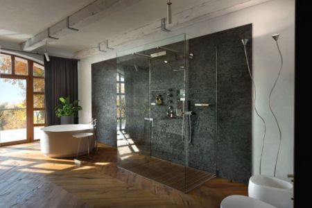 vaste salle de bains - Residence-BO par Baraban+design studio - Kiev, Ukraine