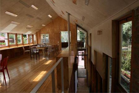 vaste salle séjour - Red-House par Kate Otten Architectes - Afrique du Sud