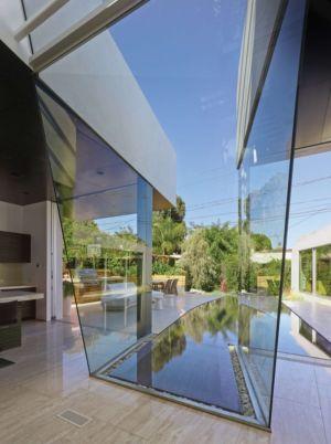 verrière pièce de vie - Birch Residence par Griffin Enright Architects - Los Angeles, Usa