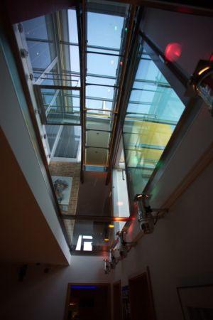 verrière vue du sous-sol - Barbo House par Ralph Büeler (Bend Group) - Genève, Suisse