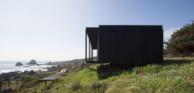 versant colline & vue panoramique océan - Remote-House par Felipe Assadi - Pichicuy, Chili