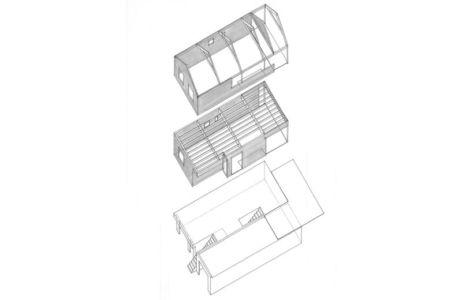 vue 3D - maison ossature bois par Eric Viprey, Cambiums - France