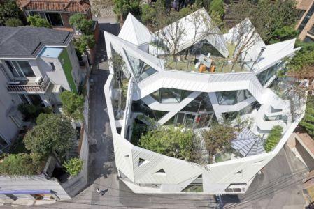 vue aérienne - HWA HUN par IROJE KHM Architects - Pyeongchang-dong, Corée du Sud