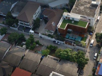 vue aérienne - Joly House par StuDO Architectes - Bangkok, Thaïlande