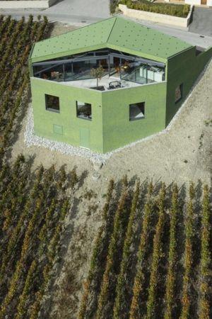vue aérienne - Maison Iseli par François Meyer architecture - Venthôme, Suisse