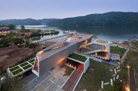 vue aérienne - Maison Rivendell par IDMM Architects - Corée du sud