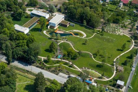 vue aérienne d'ensemble - Villa M par Oliver Grigic - Cepin, Croatie